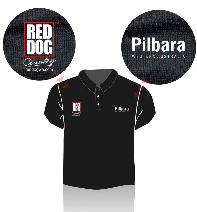 Red Dog Polo Shirts - Dampier  Western Australia