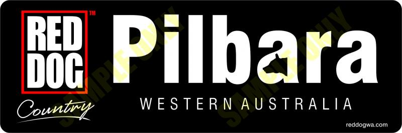 Pilbara Red Dog Country Bumper sticker