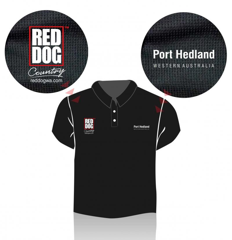 Red Dog Country Polo Shirt - Port Hedland Western Australia