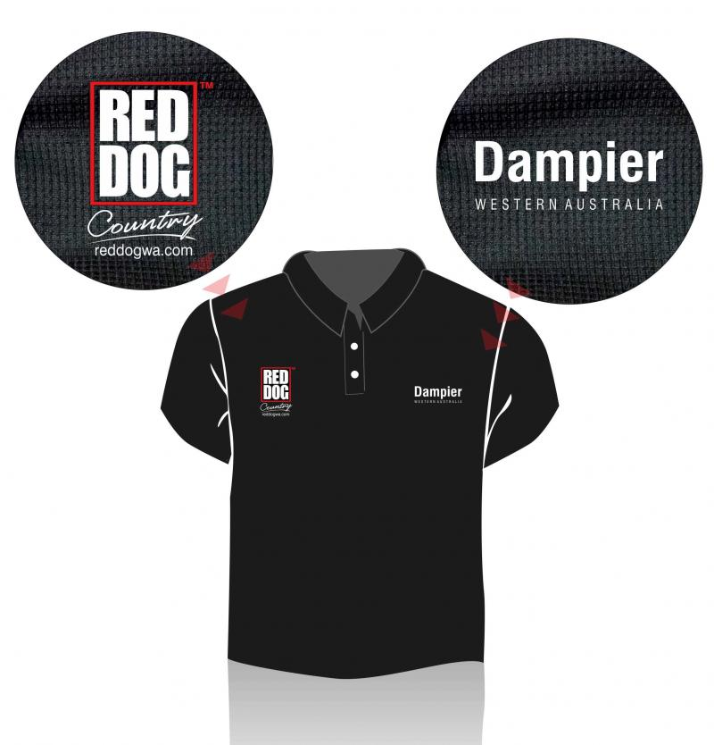Red Dog Country Polo Shirts - Dampier Western Australia