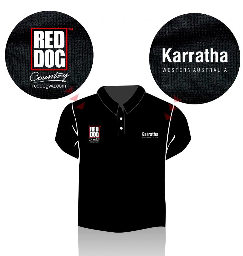 Red Dog Country Polo Shirt - Karratha Western Australia